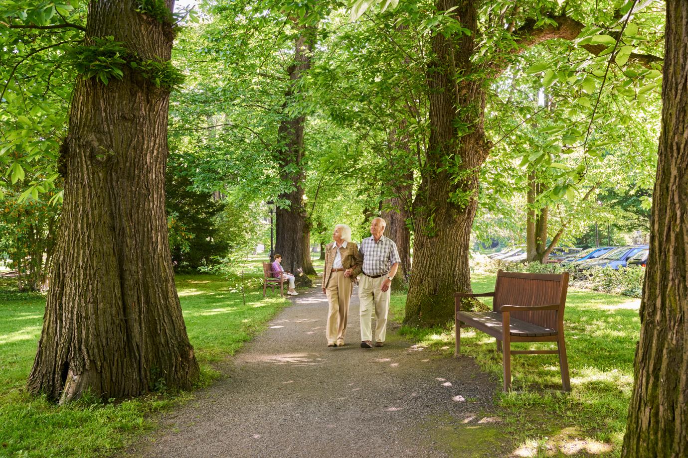 Unser Park ist ideal für kleine Spaziergänge